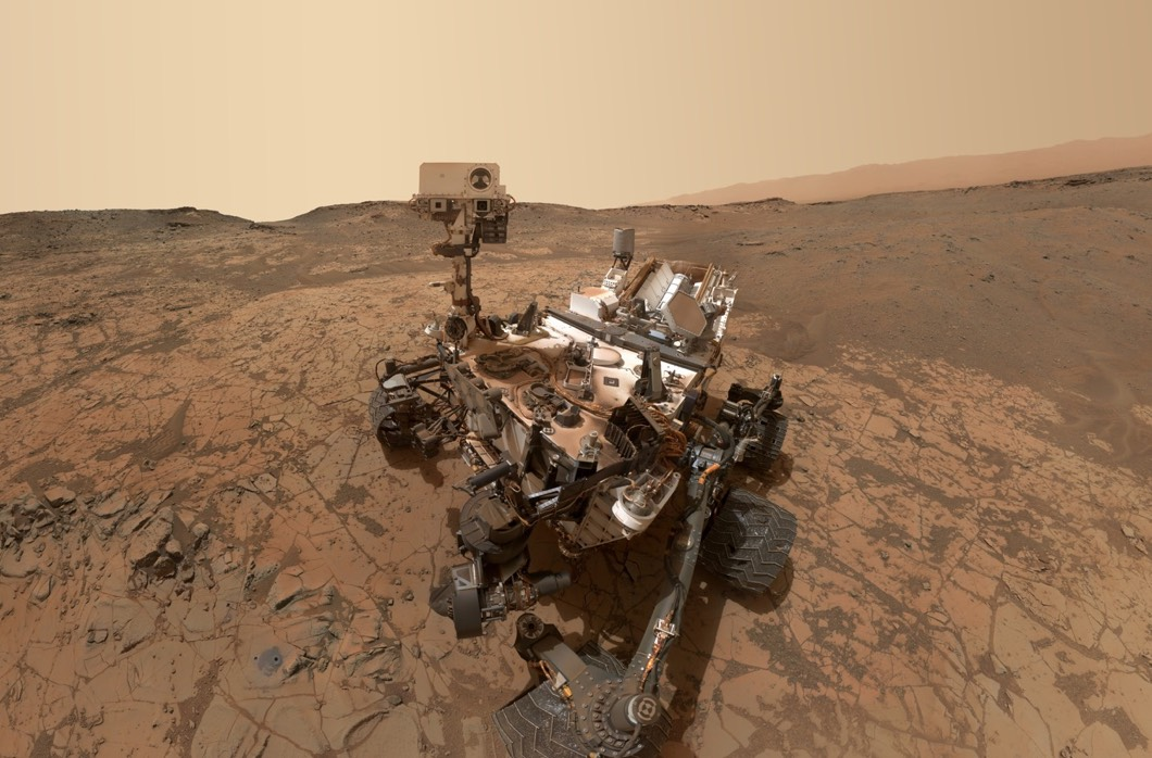 A martian selfie by the Mars Curiosity Rover; October 2015 (Courtesy NASA/JPL Caltech)