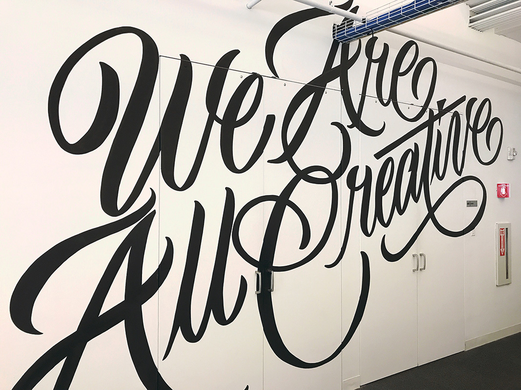 Behance Team Mural: We Are All Creative