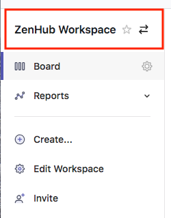 Edit Workspace from top sidebar