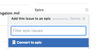 How do I convert a GitHub Issue to an Epic?