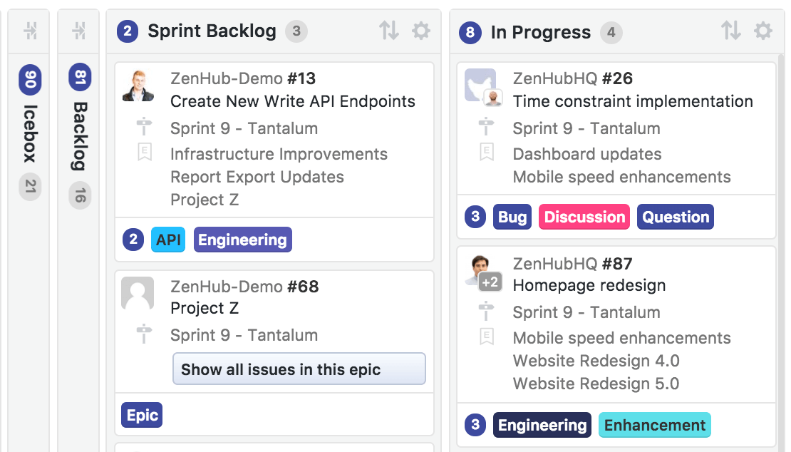 Agile Concepts in GitHub and ZenHub