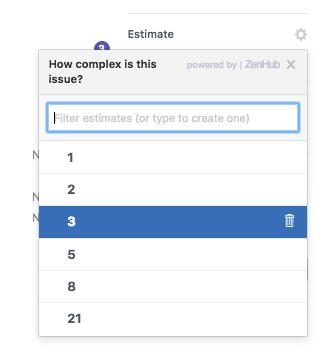 How do I delete a story point option in ZenHub?