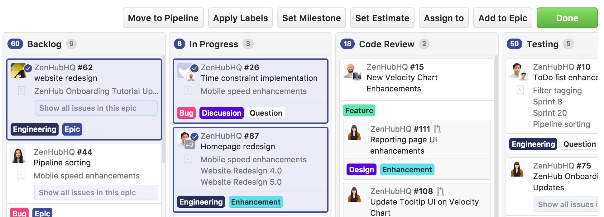zenhub-board-multi-action-bar