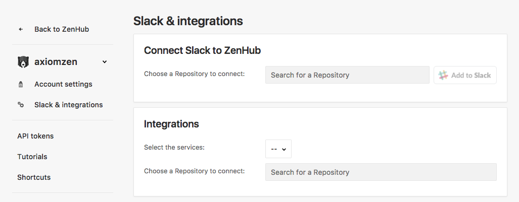 Setup Slack for GitHub and ZenHub