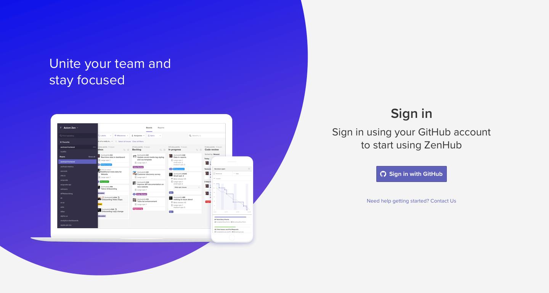 Using the ZenHub web app