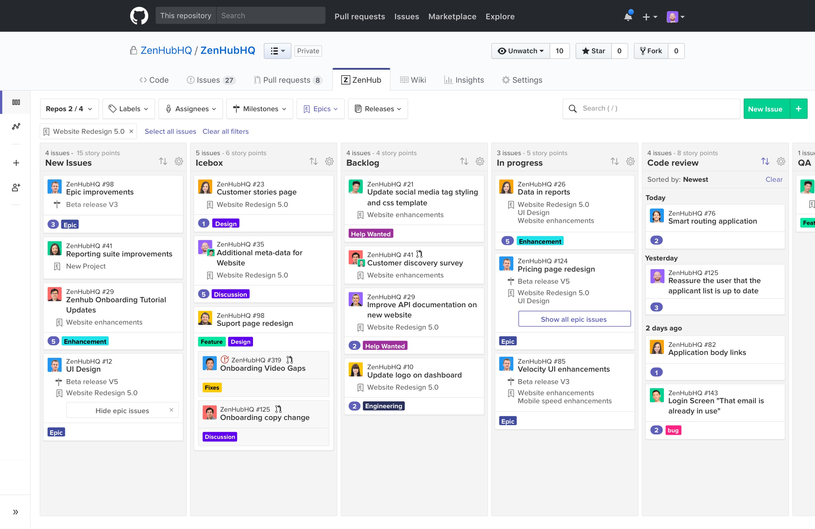 GitLab has added a kanban issue management board (and it is